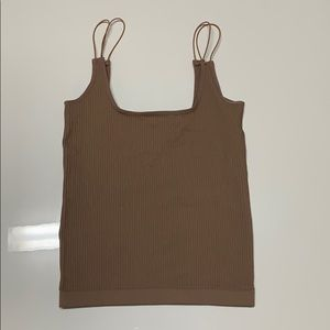 Ribbed tank top in size XS